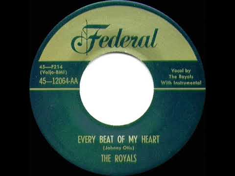 1st RECORDING OF: Every Beat Of My Heart - Royals (1952) - YouTube