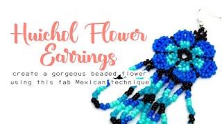 Huichol Flower 🌸 Beading Tutorial