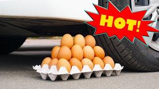 Crushing Crunchy & Soft Things by Car - EGGS, SUGAR, CHUPA CHUPS, TOOTHPASTE / ASMR / SLOW MOTION
