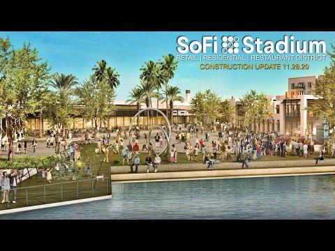 SoFi Stadium Retail Restaurant Residential Construction Update 11.28.20