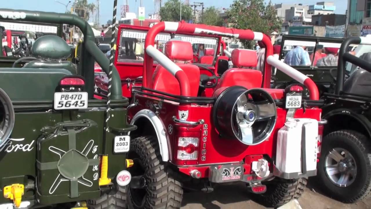 Jeeps in Moga Mandi - YouTube
