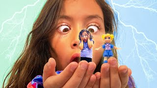 Tiny for a Day Like Polly Pocket | Come With us to Pollyville!