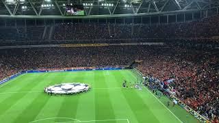 Galatasaray-Schalke 04 Şampiyonlar ligi müziği ve sahaya çıkış anı.
