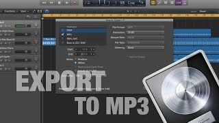 How to Export a song to mp3 in Logic Pro X