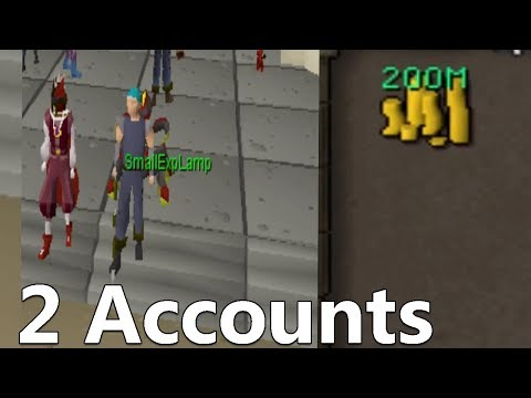 1 Hour Flipping With 200M And 2 Accounts (Old School Runescape Flipping)