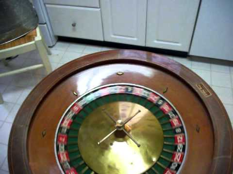 Vintage Large Roulette Wheel, One Cool Gaming Table!! Sold.