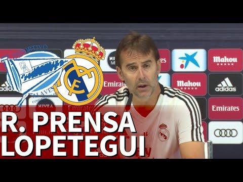 Alavés vs Real Madrid    Rueda de prensa de Lopetegui   Diario AS