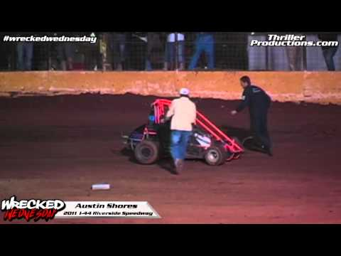Wrecked Wednesday 7 Austin Shores flip at I 44 Riverside Speedway in 2011