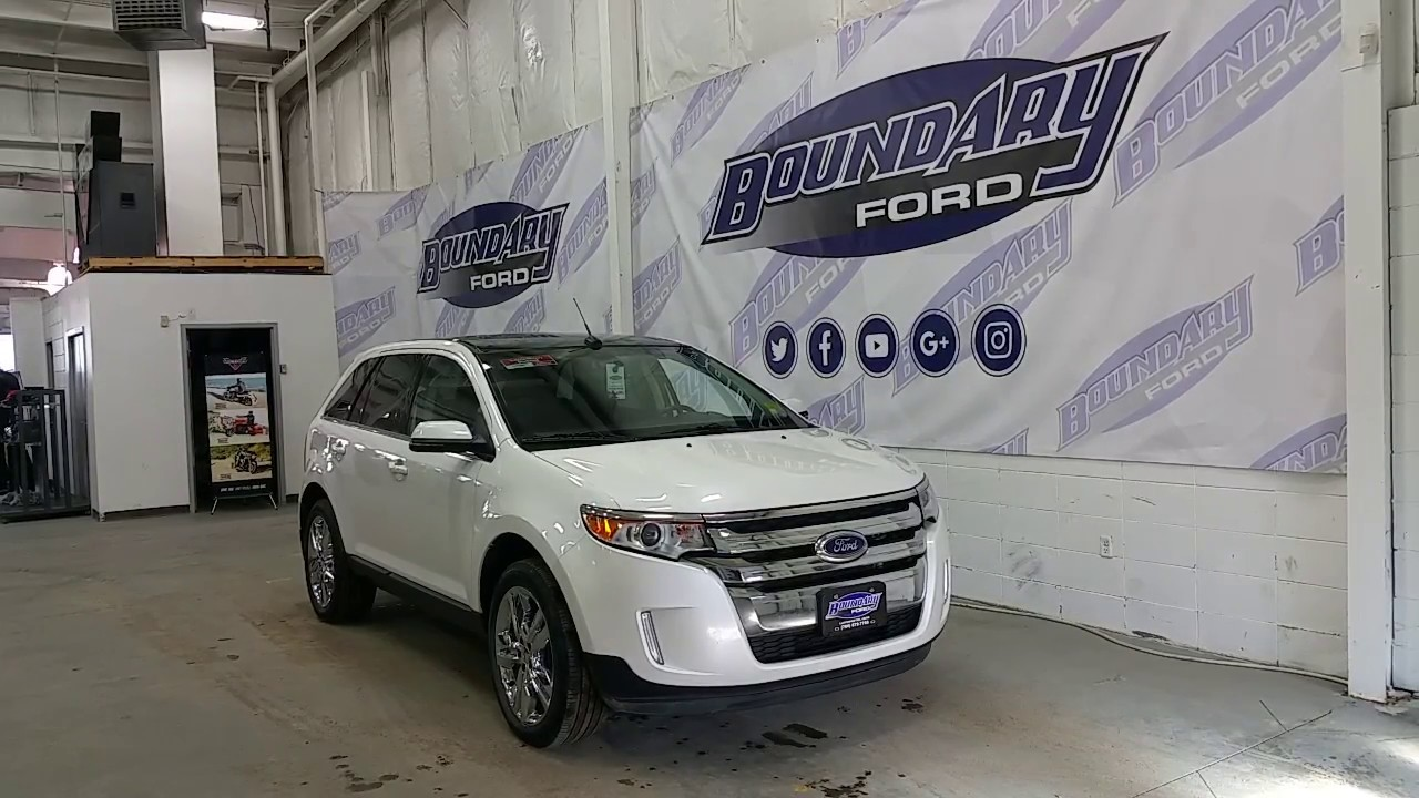 2013 ford edge limited w v6 panoramic sunroof leather review boundary ford youtube. Black Bedroom Furniture Sets. Home Design Ideas