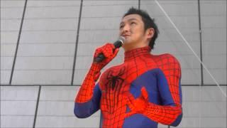 15日、銀座ソニービルでの「アメイジング・スパイダーマン2」公開記念イ...