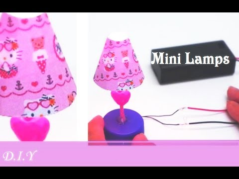 DIY Miniature Lamps (With Working Light) - Hello Kitty Mini Lamps for dolls - 3rd DIY