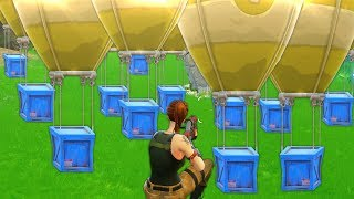 ALL AIRDROPS IN ONE SPOT!! | Fortnite Funny and Best Moments Ep.14