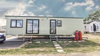 Caravan for hire at Seawick holiday park in Essex