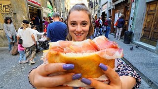 Street Food in Italy - FLORENCE'S #1 PANINI at All'antico Vinaio + ITALIAN STREET FOOD in Tuscany!