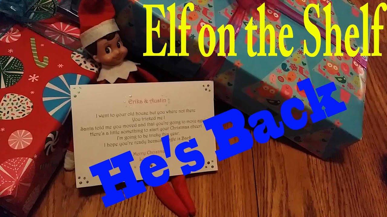 on the shelf jingle is back he has gifts