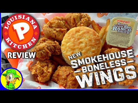 Popeyes® | Smokehouse Boneless Wings Review! ⚜🐔 from YouTube · Duration:  6 minutes 12 seconds