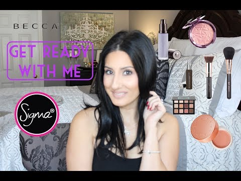 GET READY WITH ME - NEW PRODUCTS! SIGMA / BECCA COSMETICS