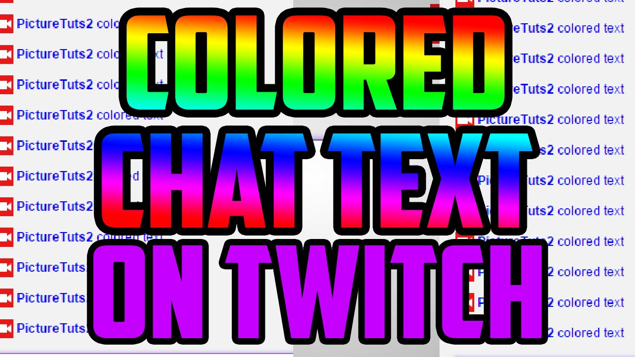 Twitch - How To Have Colored Chat Text On Twitch TV - How To Type Colored  text on Twitch!