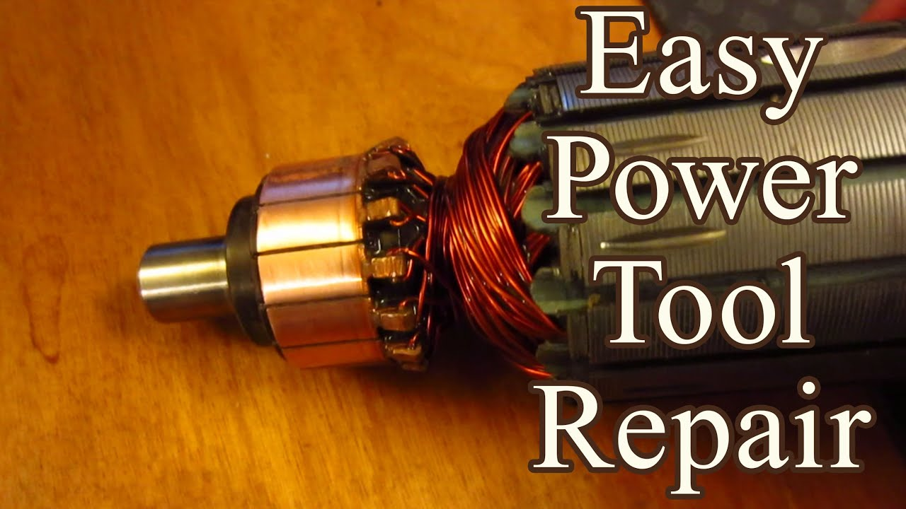 Easy Power Tool Fix Burnt Commutator Youtube