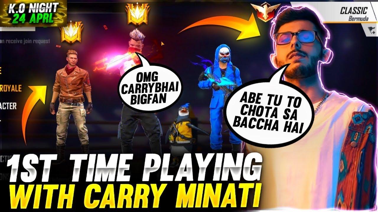 Aditech Playing With Carry Minati 1st Time ❤️? - Carry Minati Vs Aditech ? - Garena Free Fire