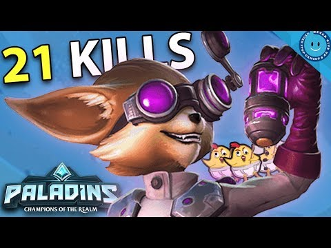 PIP MAX MORALE BOOST! 21 KILLING BLOWS! Paladins Pip Gameplay (Catalyst Loadout/Build)