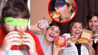 SIBLING vs SIBLING FASTFOOD CHALLENGE! (BLINDFOLD)