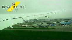 ROYAL BRUNEI Boeing 787-8 Dreamliner ONBOARD Takeoff from London Heathrow   Seat 46K