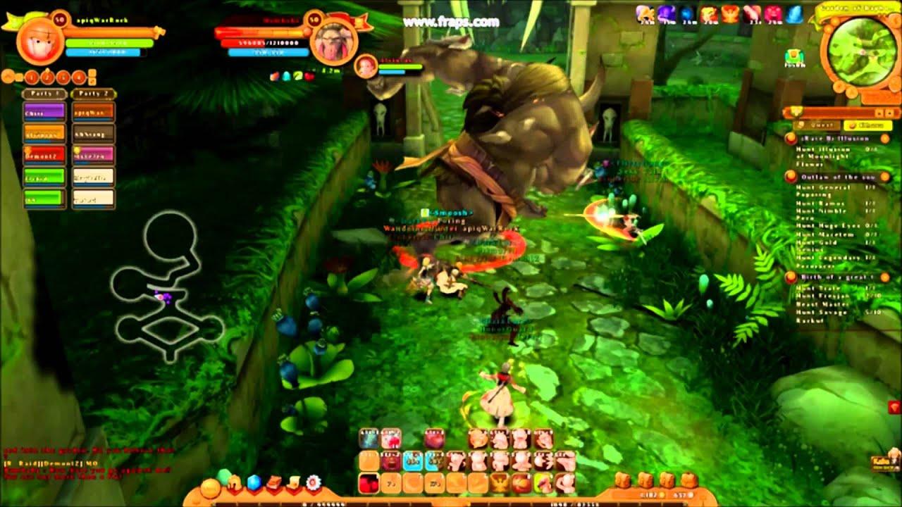 ragnarok 2 legend of the second raid hard warrior gameplay