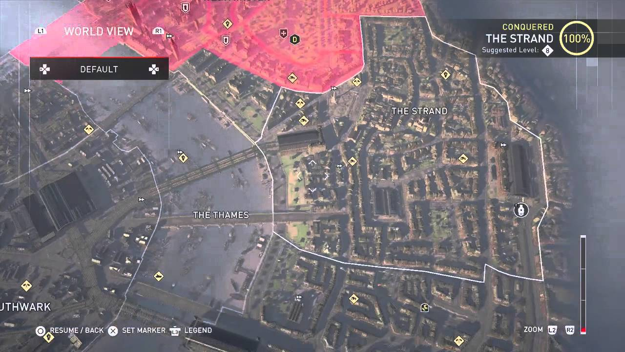 Best Video Game Map Of 2015 Assassin S Creed Syndicate Youtube