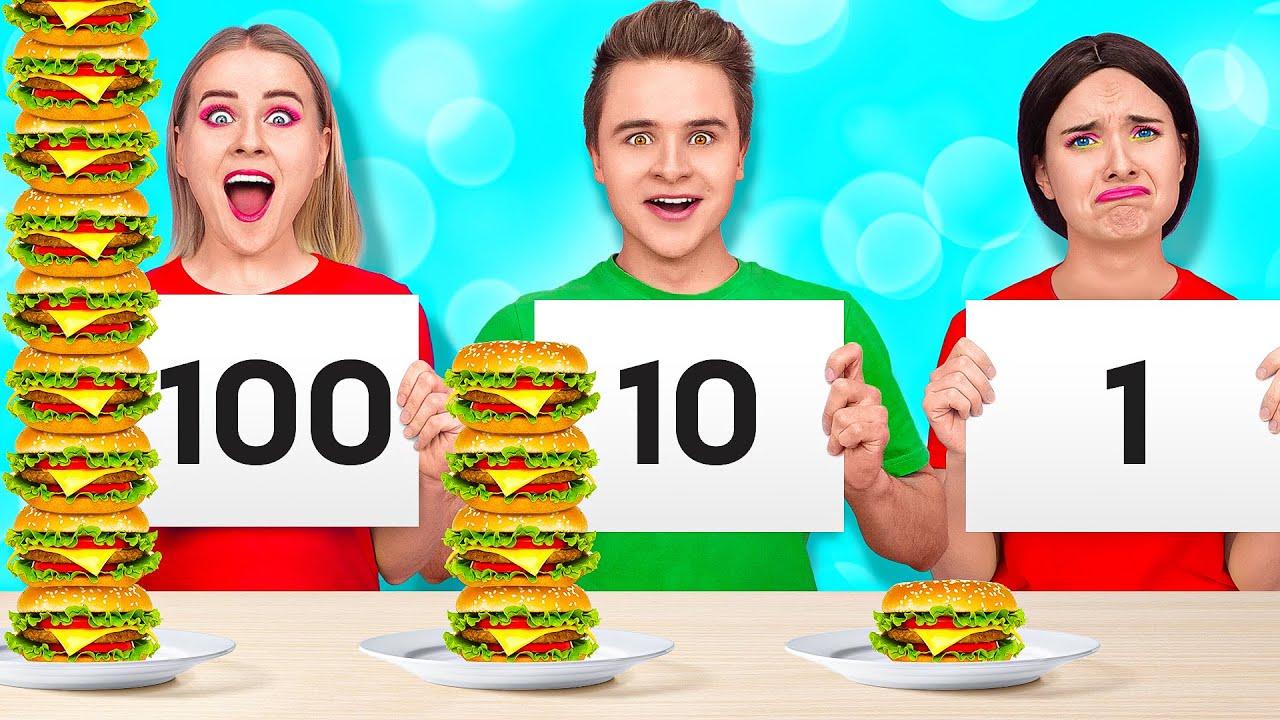 Download 24 HOUR FOOD CHALLENGE #2 || How to Sneak Food by 123 GO! SCHOOL
