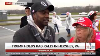Why All Blacks Should Be Voting for President Trump: Interview at Rally in Hershey, PA - RSBN