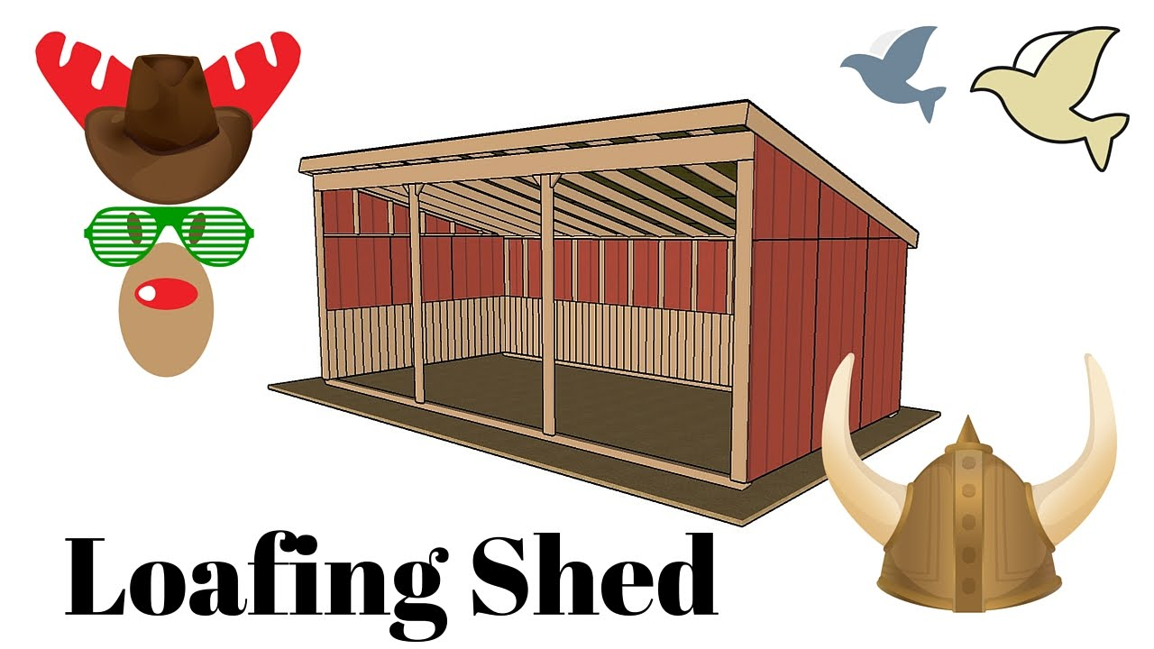 Loafing Shed Plans - YouTube