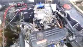 Modified Proton Iswara 4G13 1 3L Engine with Supercharger and AMR500 Carburator, boost at 0 5 bar