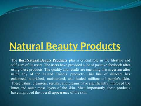 Find the Best Natural Beauty Products at Discouted Rates
