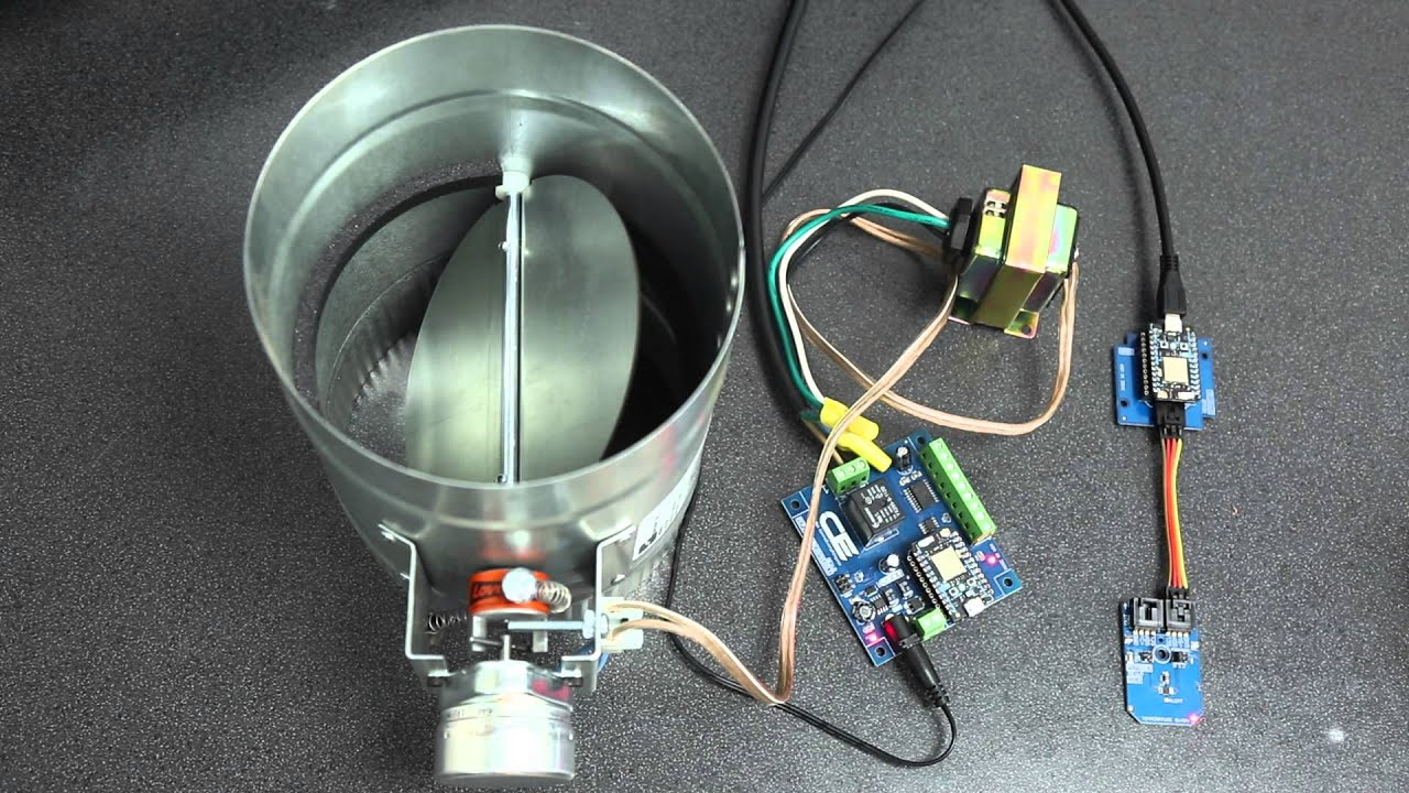 Smart Thermostat Controlled HVAC Duct Damper: 4 Steps (with