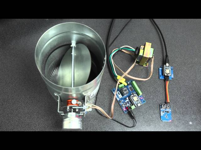 Smart Thermostat Controlled HVAC Duct Damper : 4 Steps (with Pictures) -  Instructables | Hvac Damper Wiring |  | Instructables