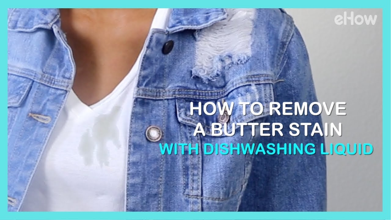 How to Remove a Butter Stain with Dishwashing Liquid | DIY IRL