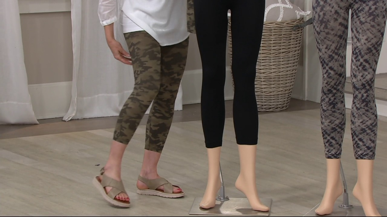 d481fe67306fa4 Spanx Cropped Look at Me Now Seamless Leggings on QVC - YouTube