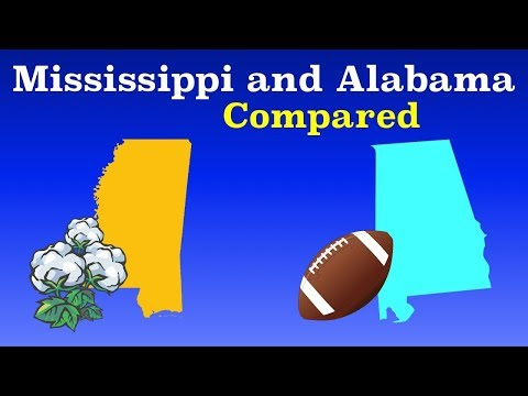Alabama And Mississippi Compared