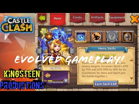 Evolved Espirita Gameplay Castle Clash!!!