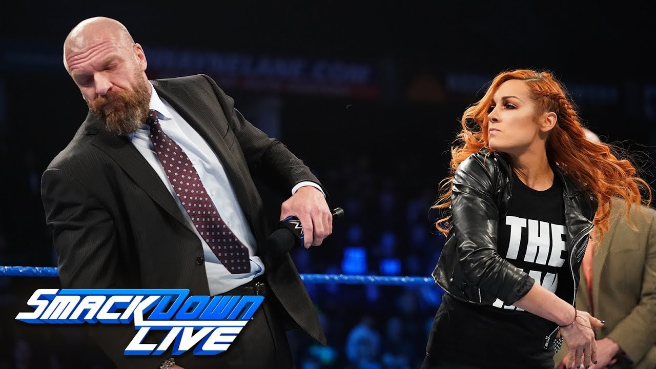 Becky Lynch slaps Triple H: SmackDown LIVE, Feb. 5, 2019