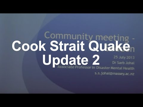 Cook Strait Earthquakes, Science Update 2