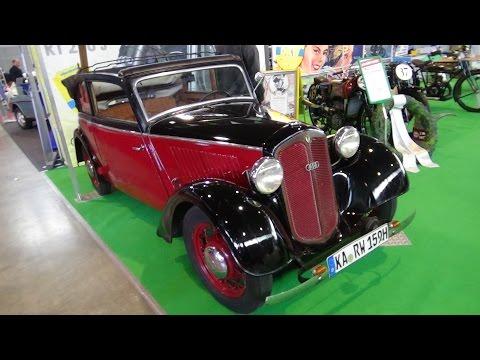 1935 DKW F5 Front Luxus Cabriolet - Exterior and Interior - Retro Classics Stuttgart 2017