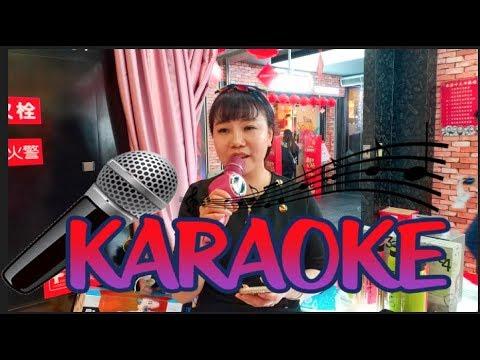 Huaqiangbei Karaoke with my friend Cherry