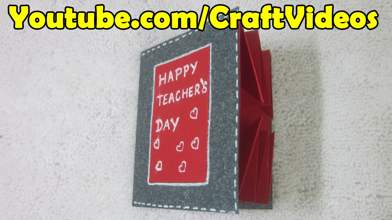 How To Make An Explosion Card For Teachers Day Teachers Day 5th