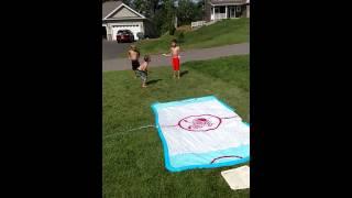 Slip and Slide Baseball Drill