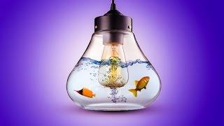 Photoshop-Bildbearbeitung l Wie Wasser zu erschaffen Lampe mit Fischen
