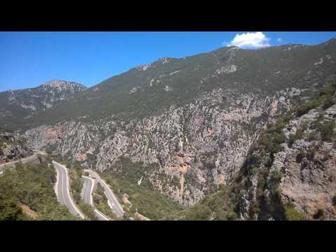 Sparta Kalamata road Greece 2014 Grecja motocyklem