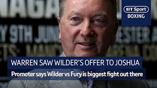 Frank Warren: I saw Wilder