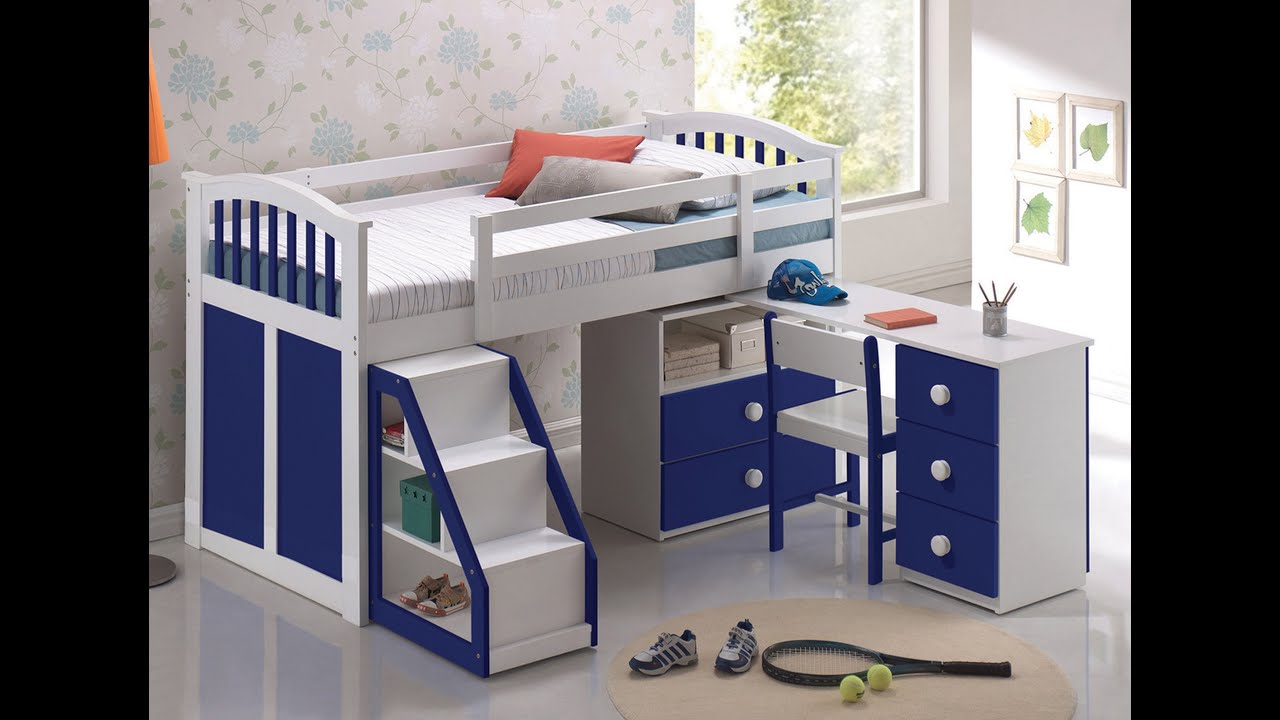 Bedroom Furniture Boys cool diy bed for kids ideas - youtube